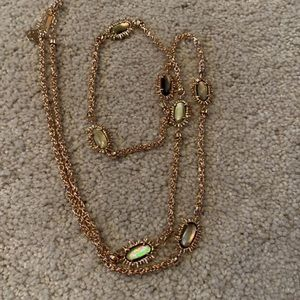 LIKE NEW BROWN PEARL ROSEGOLD LEIGHTON NECKLACE